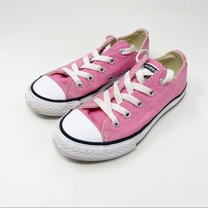 Converse Pink Low Top Sneakers for Kids